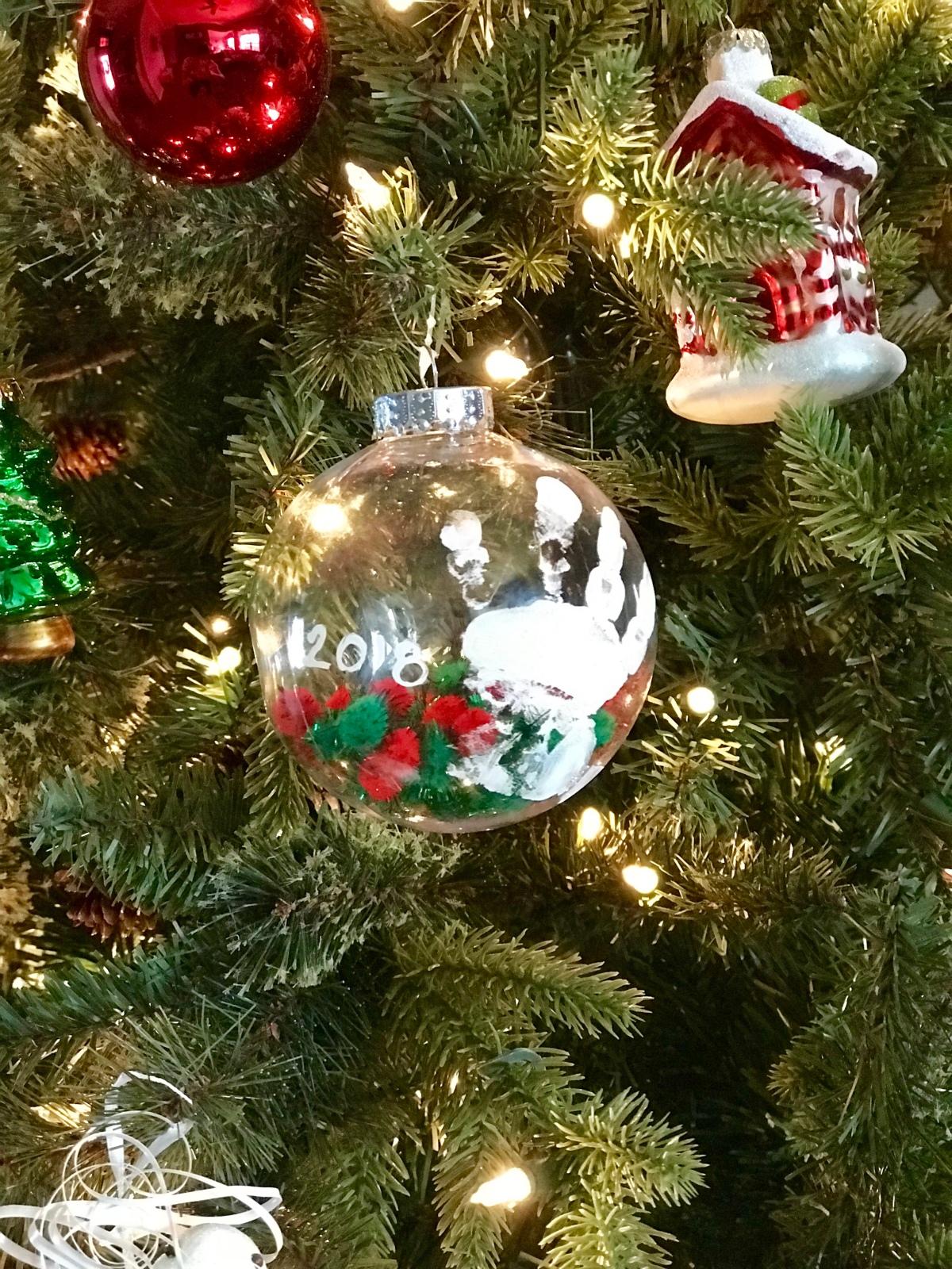 Pom-Pom Handprint Ornament