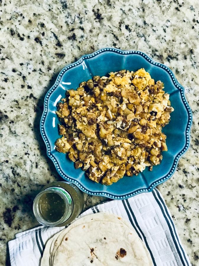 Mexican Chorizo, Egg and PotatoHash